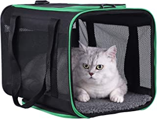 petisfam Large Cat Carrier for Large and Medium Cats and Small Dogs Offers a Comfy and Safe Way to Transport Your Fur Baby...