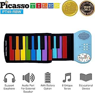 PicassoTiles PT49 Kid's 49-Key Flexible Roll-Up Educ