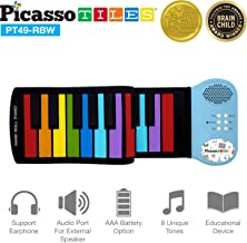 PicassoTiles PT49 Kid's 49-Key Flexible Roll-Up Educational Electronic Digital Music..