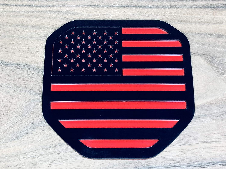 American Flag - Black Factory Crafts Tailgate Emblem Badge for Dodge Ram 1500//2500//3500 2019-2021