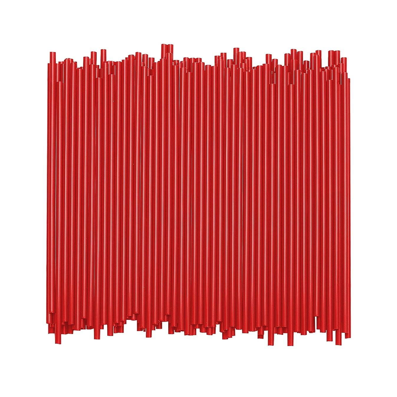 Disposable Plastic Coffee Stirrer Straw - 5 Inch Sip Stir Stick (Red, 1,000)
