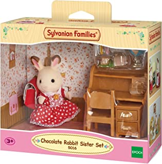 Sylvanian Families Chocolate Rabbit Sister set (desk) 5016
