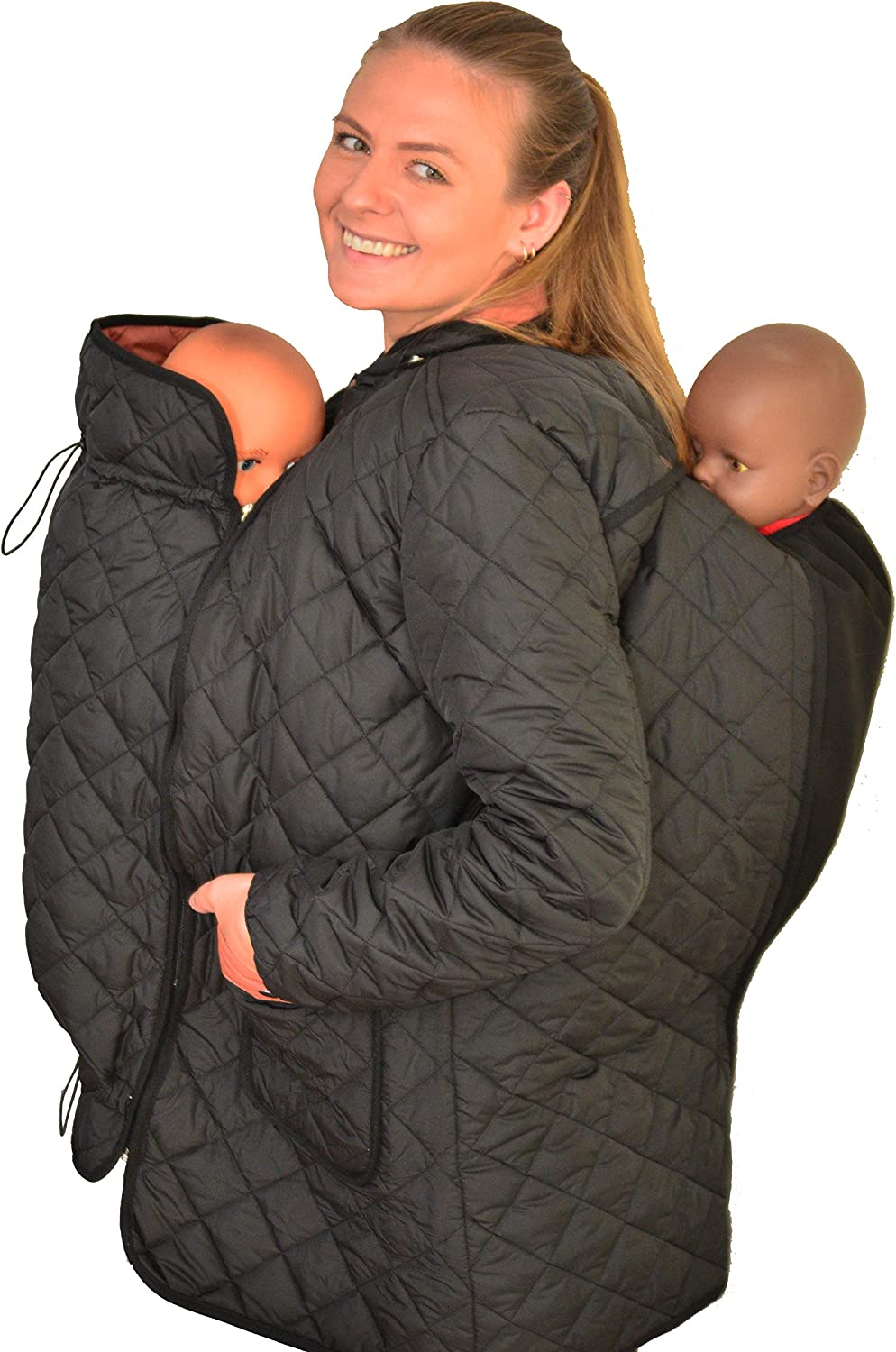 Mothershield Babywearing Coat, 4in 1 Coat, Baby Carrier Jacket,Tandem Coat