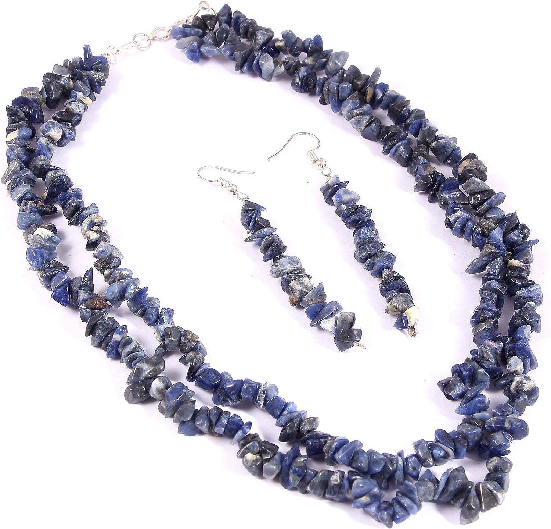 Ratnagarbha Lapis Lazuli Chips Necklace, September Birthstone, Denim Blue Lapis Lazuli, Lapis Lazuli Choker, Birthday Jewelry, September Birthstone Necklace, Boho Layering Choker, Genuine Gemstones