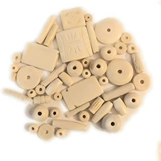 50-60 Natural (Cream) Colored Buffalo Bone Beads Size 6-5-35mm, Variety of Shapes, Some Etched, Native American Art Craft Jewelry Making