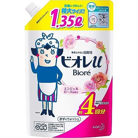 【大容量】ビオレU エンジェルローズの香り つめかえ 1350ml