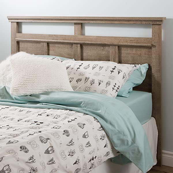 South Shore Versa Headboard Full Queen 54 60 Inch Weathered Oak