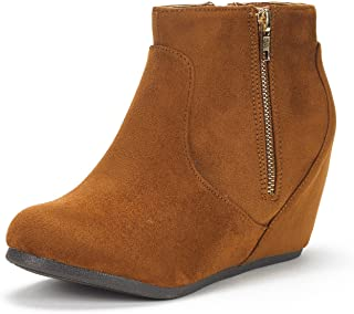 Women's Narie-New Suede Low Wedges Ankle Boots