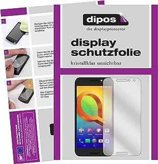 dipos I 6x skärmskydd kompatibelt med Alcatel A3 skyddsfilmer klart