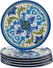 طبق طعام لوكا ميلامين 27.94 سم، مجموعة من 6 قطع