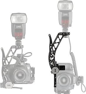 BBX ProMediaGear Boomerang Professional Flash Bracket - Quick Flip Locking For Canon Nikon Sony Cameras Wedding Photographers Arca-Swiss Type Modular Design & Anodized Black Finish