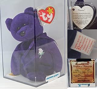 Ty Princess PVC Authenticated - MWMT MQ Rare China Var Beanie Baby