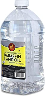 Citronella Scented Lamp Oil, 3 Liter - Smokeless and Odorless Insect and Mosquito Repellent Paraffin Lamp Oil for Indoor a...