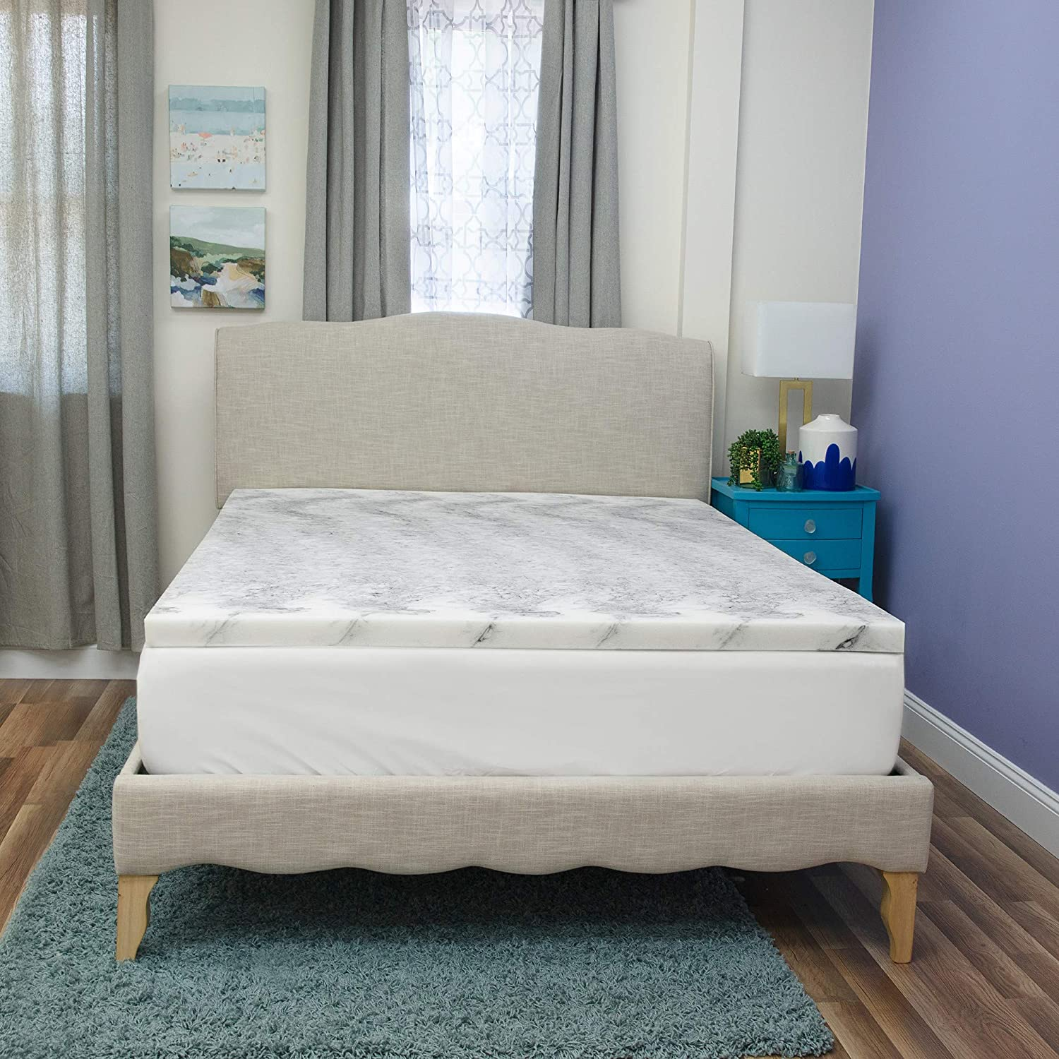 BioPedic Bamboo Charcoal infused Mattress Topper