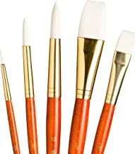 Princeton Real Value, Series 9100, Paint Brush Sets for Acrylic, Oil & Watercolor Painting, Syn-White Taklon (Rnd 2, 8, 12...