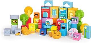 Bright Starts Set-the-Scene Sesame Street Wooden Storytelling Blocks, Ages 12-36 months