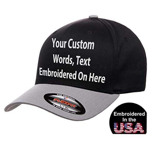 cd69eee9e74cc Custom Hat Flexfit 6277 6533 Delta   More Embroidered. Your Own Text Curved  Bill