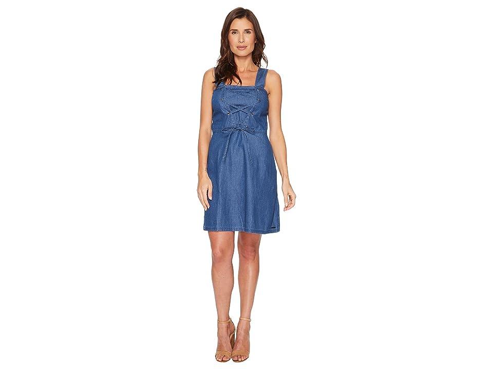 U.S. POLO ASSN. Lace-Up Denim Dress (Heritage Blue Wash) Women