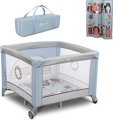 Lionelo Fie lit bebe parc bebe jusqu'à 15 kg entrée latérale dispositif de protection contre le pliage accidentel Loc...