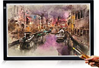 A2 Light Pad, Ulif Portable A2 Tracing Light Box, USB Powered Light Drawing Board Ultra-Thin Adjustable Brightness Copy Board kit for Diamond Painting, Artists Designing, Sketching