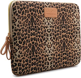 KAYOND Laptop Sleeve for 13 3 Inch Laptop MacBook Air MacBook Pro MacBook Pro Retina  13-13 3 inch  Brown Leopard Print