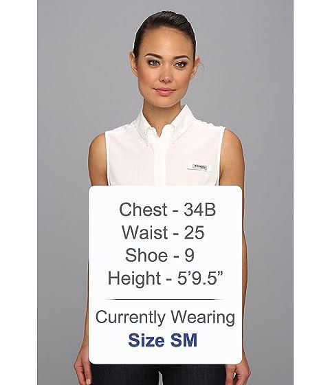 Tamiami Camisa blanca mangas sin Columbia HqpFPdTPx1