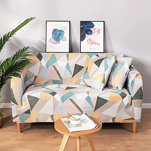 new arrival UMINEUX lowest Stretch Sofa Cover Printed Couch Cover popular Washable Sofa Slipcover Furniture Protector for Loveseat with Two Free Pillow Case(Loveseat,Time) sale