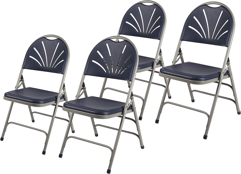 half OEF Furnishings Heavy Duty Plastic Fan T Folding Max 85% OFF with Back Chair