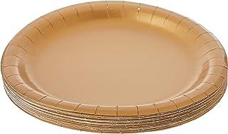 اطباق غداء تاتش اوف كولور من كريتيف كونفيرتينغ، 24 قطعة، مقاس 7 انش، لون ذهبي براق