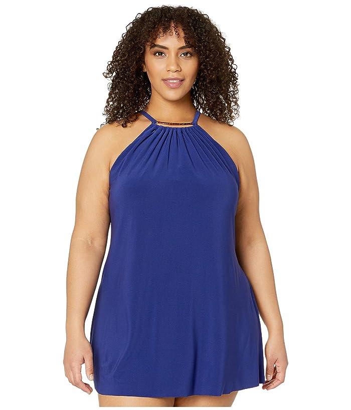 1930s Syle Bathing Suits Magicsuit Plus Size Parker Swimdress Indigo Womens Swimsuits One Piece $125.67 AT vintagedancer.com