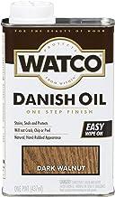 Watco 65851 Danish Oil Wood Finish, Pint, Dark Walnut