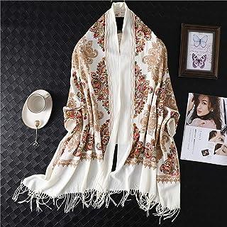 Schal Stickschal Für Frauen Winter Dicken Warmen Hals Kaschmir Schals Lady Schal Wrap Weibliche Foulard Decke Quaste