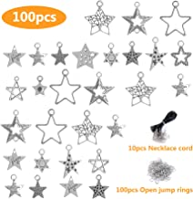 Star Clover Charms - Wholesale Bulk Lots Jewelry Making Silver Metal Charms for Men, Women & Kids - DIY for Necklace, Jewelry Making and Crafting, Fashion Accessories, Bracelets, Bangles 100pcs