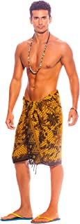 1 World Sarong Men's Sarong with Traditional Motif Parang Rusak