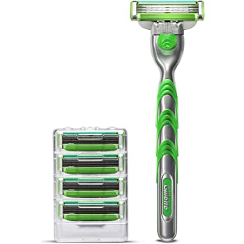Gillette Mach3 Sensitive Men's Razor Handle + 5 Blade Refills