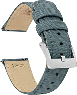 BARTON Sailcloth Quick Release Premium Nylon Weave Choice of Color and Width 18mm, 19mm, 20mm, 21mm, 22mm, 23mm, 24mm
