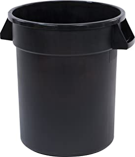 Carlisle 34102003 Bronco Round Waste Container Only, 20 Gallon, Black