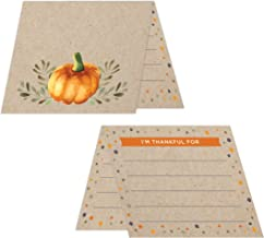 Koko Paper Co Thanksgiving Place Cards with Fill-in Gratitude Cards | Pack of 50 Cards | Printed on Heavy Card Stock.