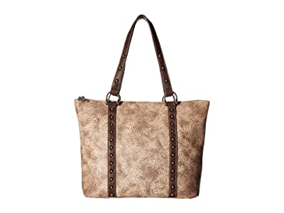 M&F Western Lydia Conceal Carry Tote (Taupe) Tote Handbags