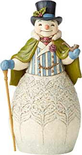 Enesco Jim Shore Heartwood Creek Victorian Snowman with Cape or Cane