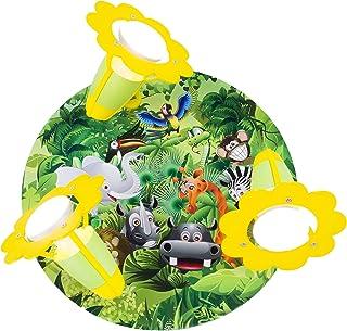 elobra Niños Lámpara plafón Wildnis Jungla, madera, verde, a + +