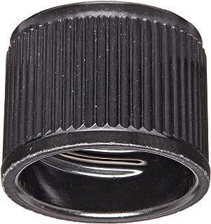Kimble 73800-13415 Phenolic Screw Cap with Rubber Liner, Black, 13-415 GPI Thread Finish (Case of 1000)
