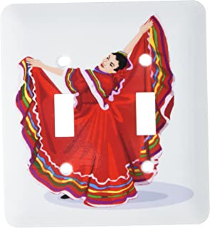 3dRose LLC lsp_128639_2 Mexican Dancer in Traditional Dress Double Toggle Switch