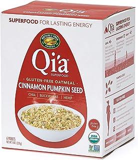 Nature's Path Qi'a Superfood Organic Gluten Free Oatmeal, Cinnamon Pumpkin Seed, 8 Oz Box (Pack of 6)