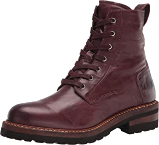 Frye Women's Ella Moto Lace Ankle Boot, Oxblood, 10