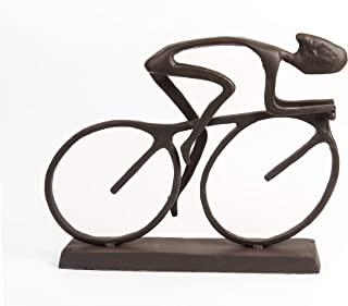 Danya B. ZD480 Metal Art Home Décor for The Bicycle Enthusiast - Cyclist Cast Bronze Sculpture