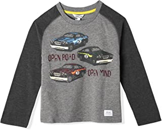 art & eden Baby Boy's 100% Organic Cotton Long Sleeve Raglan T-Shirt