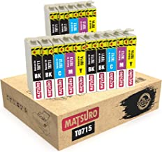 Matsuro Original | Compatible Cartuchos de Tinta Reemplazo para EPSON T0715 T0711 T0712 T0713 T0714 (3 Sets + 3 BK)