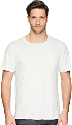 Chase Raw Edge Short Sleeve Crew