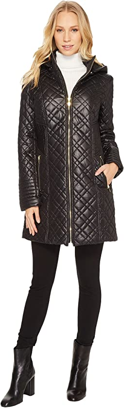 Mini Quilted Hooded